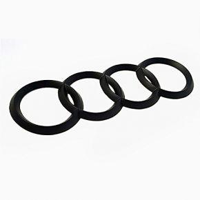 Audi juodas logotipas