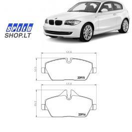 BMW 1 (E81-E87-E88) priekinės stabdžių kaladėlės