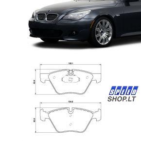 BMW 5 (E60-E61) priekinės stabdžių kaladėlės