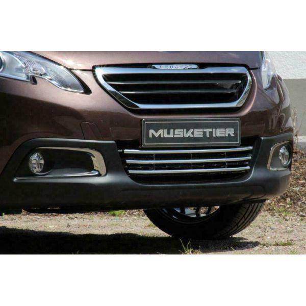 Peugeot 2008 chromuotos apatinės bamperio grotelės
