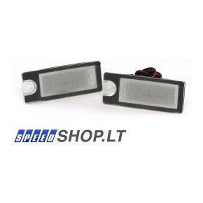 Volvo V70 XC70 S60 S80 LED numerių apšvietimas