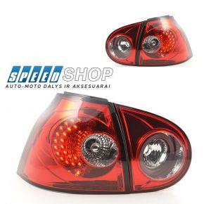 Golf 5 galiniai raudoni Led žibintai