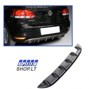 GOLF 6 galinio bamperio difuzorius